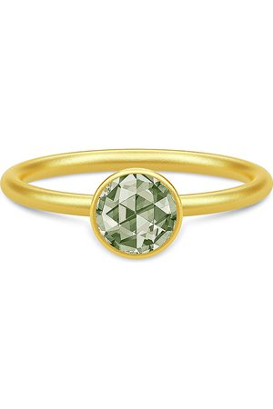 Julie Sandlau Kvinder Ringe - Cocktail Ring Small - Gold/Dusty Green Ring Smykker