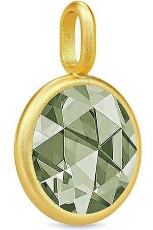 Julie Sandlau Cocktail Pendant - Gold/Dusty Green Halskæde Hængesmykke