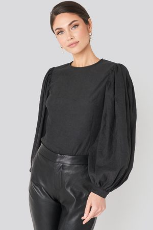 NA-KD Kvinder Toppe - Puff Sleeve Round Neck Top