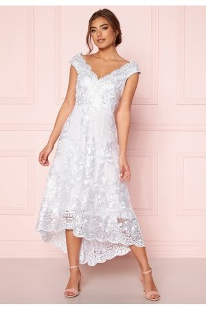 Goddiva Embroidered Lace Dress White M (UK12)