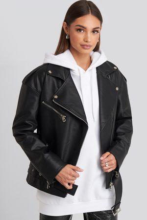 NA-KD Kvinder Blazere - Oversize Pu Jacket