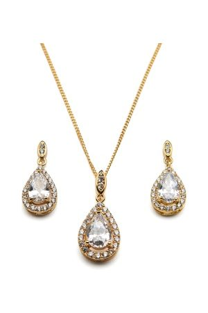 Ivory & Co Belmont Gold Pendant Set Gold One size
