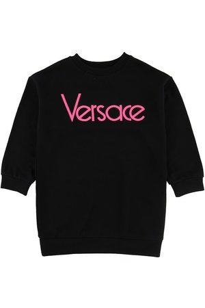 VERSACE Kjoler - Versace Sweatkjole - /Neonpink m. Tekst