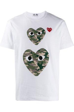 Comme des Garçons T-shirt med kamuflage-hjerte