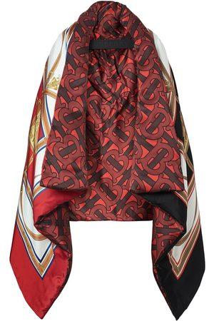 Burberry Oversize dunkappe i silke og satin med arkiv-tryk