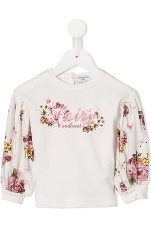 MONNALISA Langærmet top med blomster-tryk