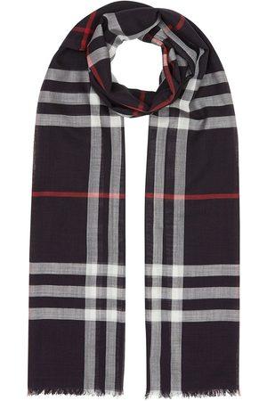 Burberry Ternet letvægtstørklæde i silke og uld