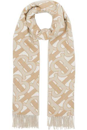 Burberry Flæset tørklæde med monogram
