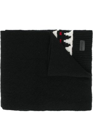 Saint Laurent Vintertørklæde med boho-tryk