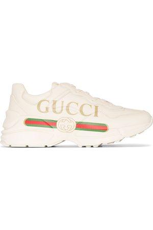 Gucci Rhyton -sneakers i læder med logo