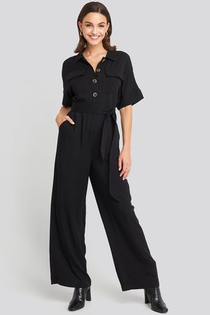 NA-KD Chest Pocket Buttoned Jumpsuit