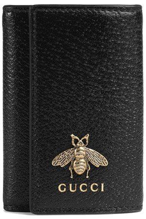 Gucci Mænd Punge - Bee detail leather key case