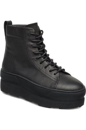 GRAM Kvinder Støvler - 767g Leather Shoes Boots Ankle Boots Ankle Boots Flat Heel Sort