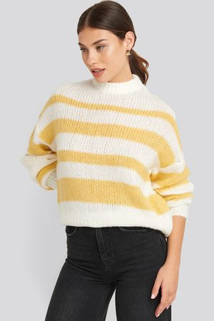 NA-KD Striped Round Neck Oversized Knitted Sweater
