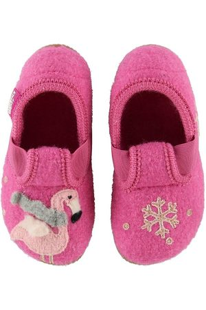 Living Kitzbühel Tøffler - Hjemmesko - Uld - Slipper Winter Flamingo And S