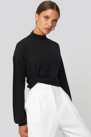 NA-KD Kvinder Strik - Side Twisted Sweater