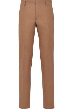 Prada Corded flannel trousers