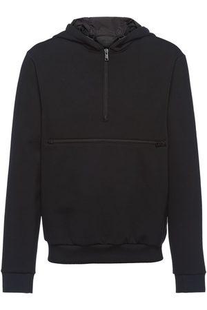 Prada Mænd Strik - Techincal fleece hoodie