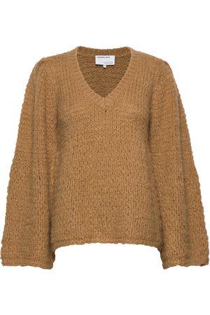 Designers Remix Caress V-Neck Sweater Strikket Trøje Orange