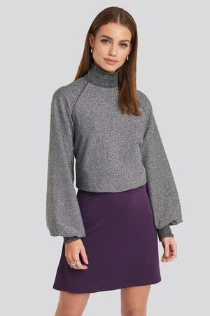 NA-KD High Waist A-Line Skirt