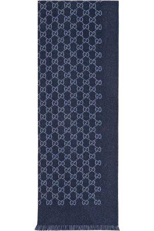 Gucci Uldtørklæde i jacquard med GG-logo