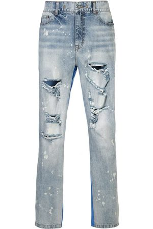 MOSTLY HEARD RARELY SEEN Half and Half-jeans med paneler