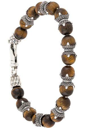 EMANUELE BICOCCHI Armbånd med tigerøje-perler