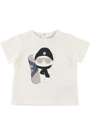 Emporio Armani Kortærmede - T-shirt - m. Snowboarder