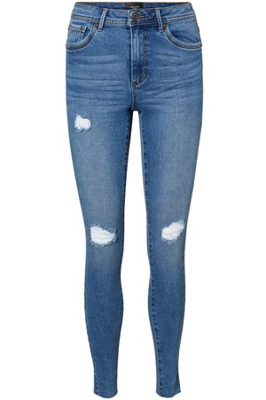 Vero Moda Vmtanya Normal Waist Slim Fit Jeans Kvinder Blå