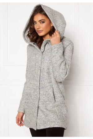 ONLY Kvinder Vinterfrakker - Sedona Boucle Wool Coat Light Grey Melange
