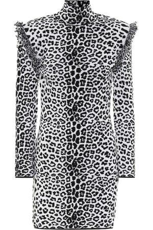 Dundas Kvinder Mønstrede kjoler - Leopard-print wool and cashmere dress