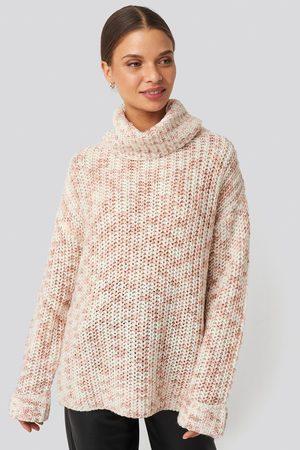 NA-KD Kvinder Højhalset - Space Dyed Pullover