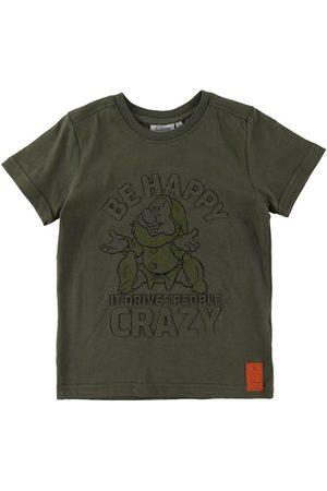 Disney Kortærmede - T-Shirt - Happy - Army Leaf