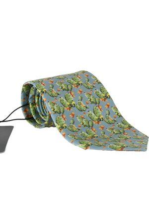 Dolce & Gabbana Silk Cactus Print Tie