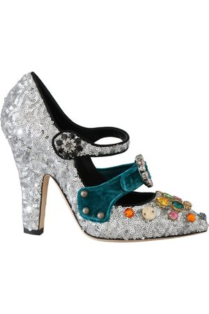 Dolce & Gabbana Crystal Mary Janes Pumps