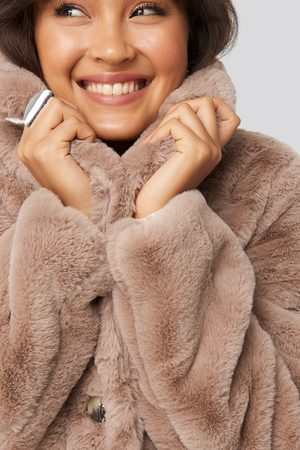 NA-KD Colored Faux Fur Short Coat