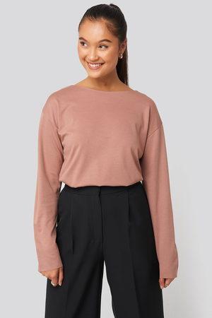 NA-KD Kvinder Sweatshirts - Round Neck Relaxed Sweatshirt