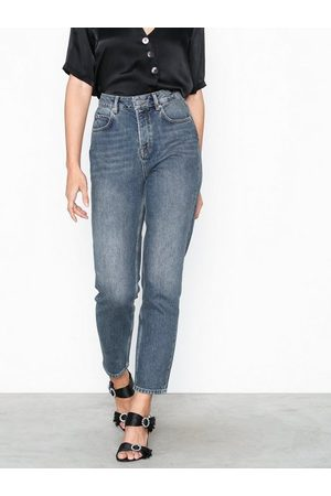 Selected Slffrida Hw Mom Mid Blue Jeans W No Straight fit
