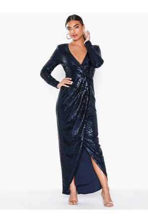 NLY Eve Sequin Wrap Gown Pailletkjoler