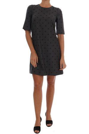 Dolce & Gabbana Polka Dotted Sheath Wool Dress