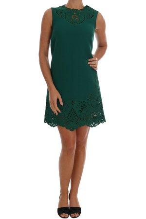 Dolce & Gabbana Kvinder Casual kjoler - Floral Cutout Silk Wool Dress