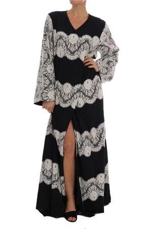 Dolce & Gabbana Kvinder Maxikjoler - Silk Floral Lace Kaftan Kjole
