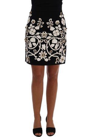Dolce & Gabbana Crystal Floral Pencil Skirt