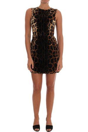 Dolce & Gabbana Leopard Print Silk Sheath Dress