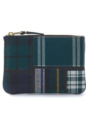 Comme des Garçons Tartan patchwork wool wallet