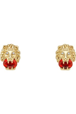 Gucci Yellow gold lion head earrings