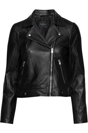 Selected Slfkatie Leather Jacket B Noos Læderjakke Skindjakke
