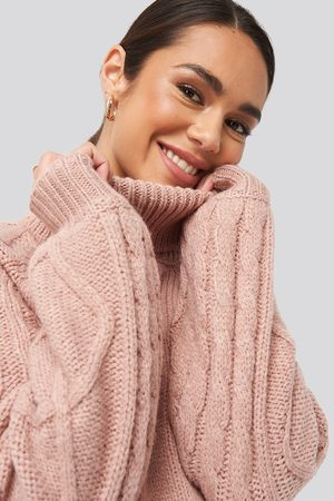 NA-KD Cable Sleeve Knitted Sweater
