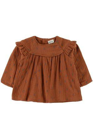 Mini A Ture Bluser - Bluse - Cenia - Leather Brown