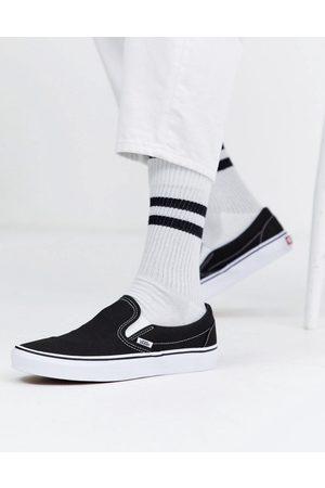 Vans Sorte og hvide klassiske slippers-sneakers fra